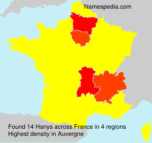 Surname Hanys in France