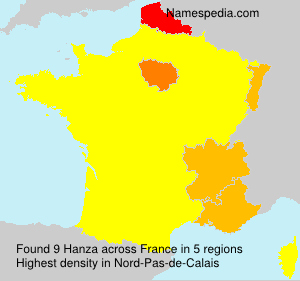 Surname Hanza in France