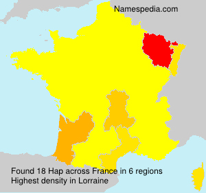 Surname Hap in France