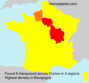 Surname Haraucourt in France