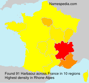 Surname Harbaoui in France