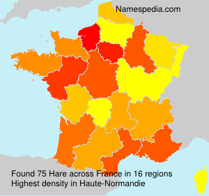 Surname Hare in France