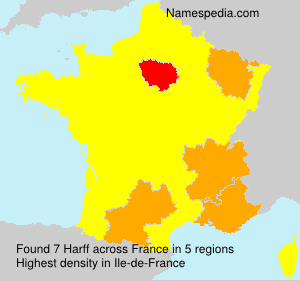 Surname Harff in France