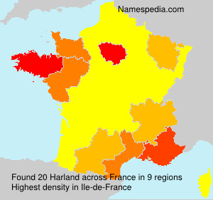 Surname Harland in France