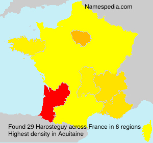 Surname Harosteguy in France