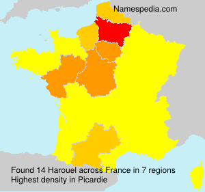 Surname Harouel in France