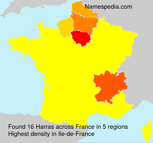 Surname Harras in France