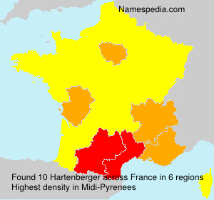 Surname Hartenberger in France