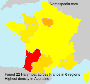 Surname Harymbat in France