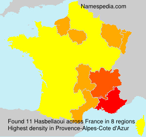 Surname Hasbellaoui in France