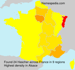 Surname Hascher in France