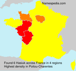Surname Hasiuk in France