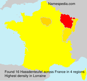 Surname Hassdenteufel in France