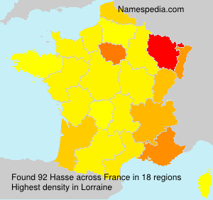 Surname Hasse in France