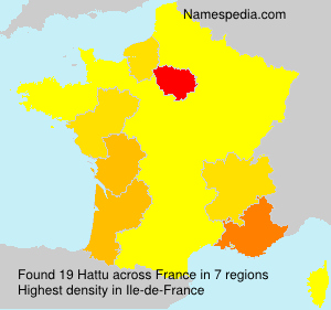 Surname Hattu in France