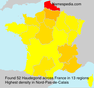 Surname Haudegond in France