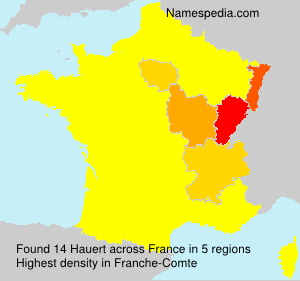 Surname Hauert in France