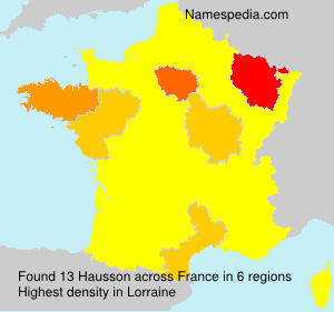 Surname Hausson in France