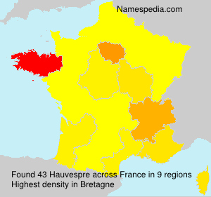 Surname Hauvespre in France