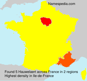 Surname Hauwelaert in France