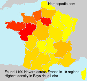 Surname Havard in France
