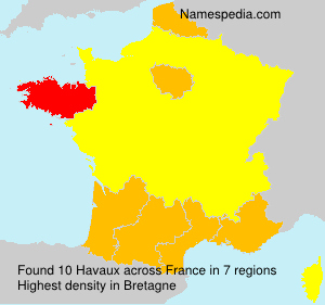 Surname Havaux in France
