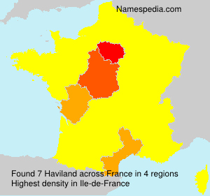 Surname Haviland in France