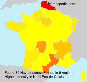 Surname Havrez in France