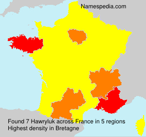 Surname Hawryluk in France