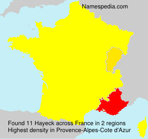 Surname Hayeck in France