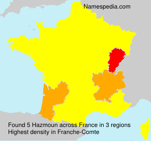 Surname Hazmoun in France