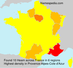 Surname Heam in France
