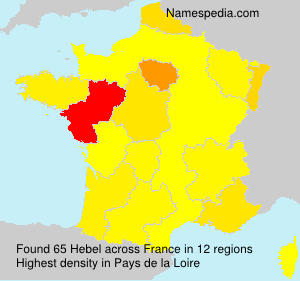 Surname Hebel in France