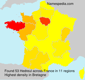 Surname Hedreul in France