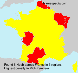 Surname Heeb in France