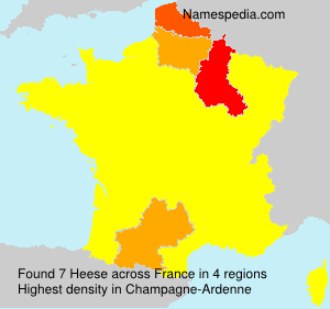 Surname Heese in France