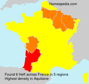 Surname Heff in France