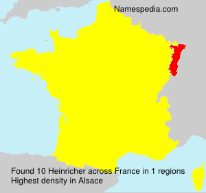 Surname Heinricher in France