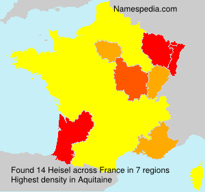 Surname Heisel in France