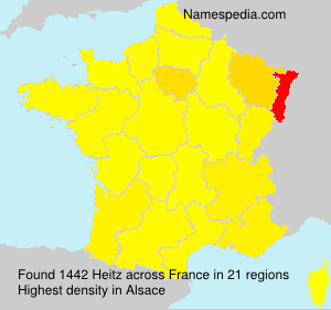 Surname Heitz in France