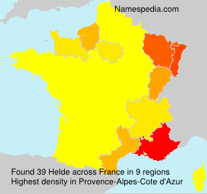Surname Helde in France