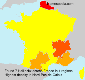 Surname Hellinckx in France