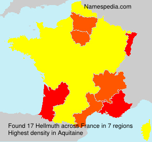 Surname Hellmuth in France