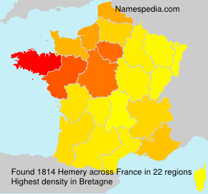Surname Hemery in France