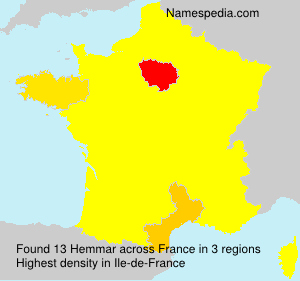 Surname Hemmar in France