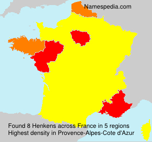 Surname Henkens in France