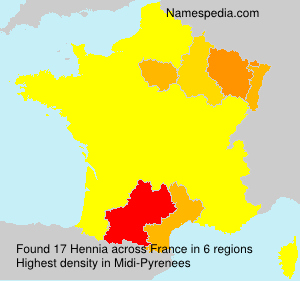 Surname Hennia in France