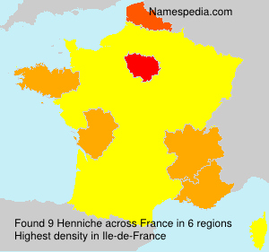 Surname Henniche in France