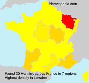 Surname Hennick in France