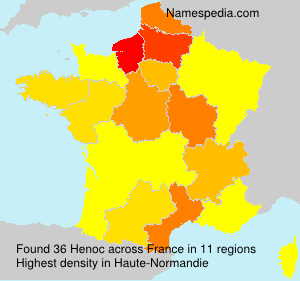 Surname Henoc in France